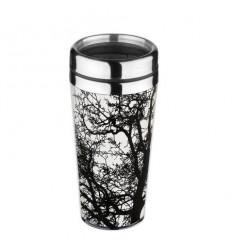Термо чаша Дърво бяло