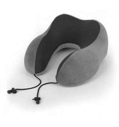 Възглавница за път от мемори пяна - сива