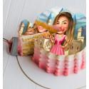 Карикатура върху торта