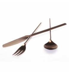"HERDMAR Комплект прибори за хранене ""MALMO"" - 36 части - медно PVD покритие / мат"