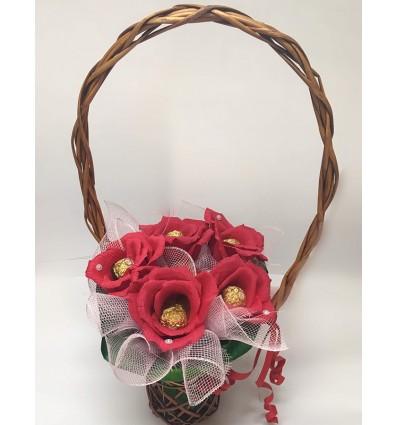 Шоколадова кошница Давам ти сърцето си