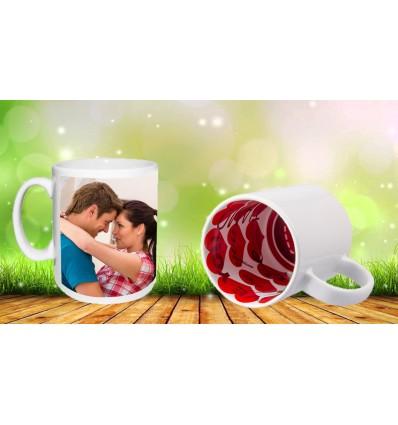 Чаша с Ваша снимка, вътрешна част LOVE