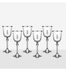 Чаши за вино  с плочка 6 бр. Brigitta