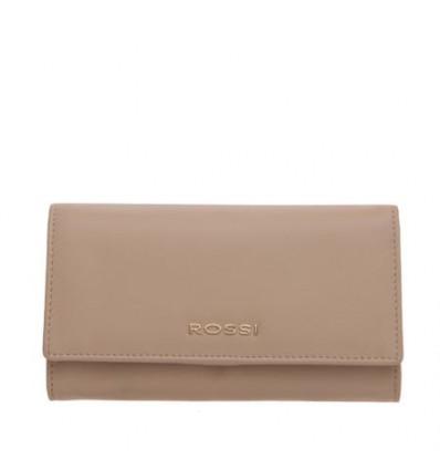 Дамско портмоне цвят мляко с какао ROSSI