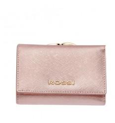 Малко дамско портмоне Блестящо Розово - ROSSI