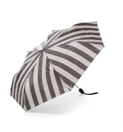 Дамски чадър с черно райе - Pierre Cardin