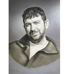Портрет графика с пастел едно лице