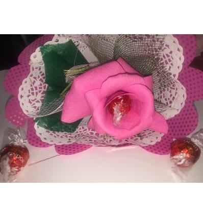 Шоколадов букет с едно цветче