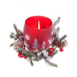Тънка червена запалка с  надпис  Pierre Carrdin