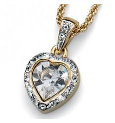 """Колие """"Truly"""" - злато + кристал"""