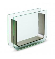 """Стъклена ваза """"ЛУМЕН"""" - ниска-18х4х14"""