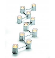 PHILIPPI Свещник стъклен за 10 свещи LICHT BY LICHT