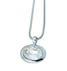 "Колие ""Oval"" - родий + кристал"
