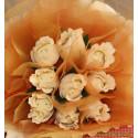 """Букет цветя от бонбони """"Бели рози"""""""