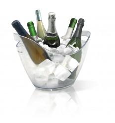 "Vin Bouquet Прозрачен охладител за бутилки ""ICE BUCKET"" - за  6 бутилки"