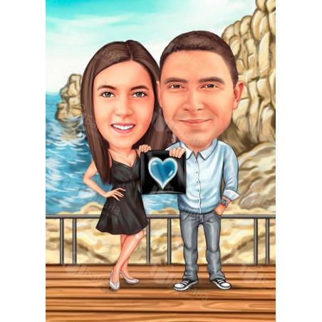 Карикатура за двама