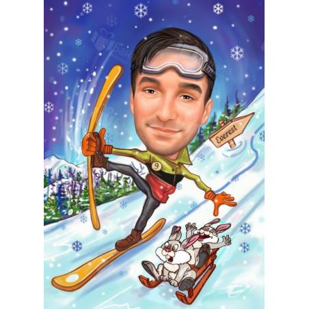 Карикатура за любителите на зимните спортове