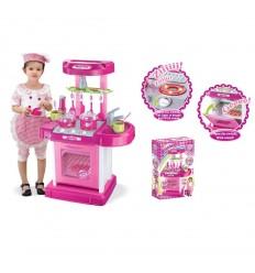 Детска кухня розова
