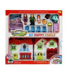 Кукленска къщичка с обзавеждане и кукли