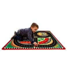 Детско килимче-писта + дървени колички