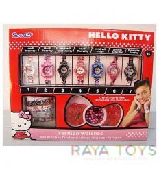 Комплект гривни и часовници Кити (Hello Kitty)