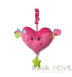 Бебешка плюшена играчка сърце Babyono 1115