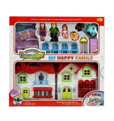 Кукленска къщичка с обзавеждане и фигурки