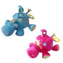 1123 Бебешка плюшена музикална играчка Хипопотам Babyono