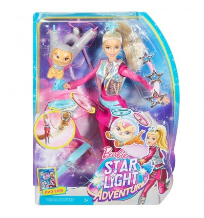 Barbie с летящо коте Космическо приключение