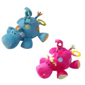 Бебешка плюшена музикална играчка Хипопотам Babyono