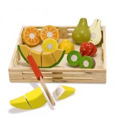 Комплект дървени плодове за рязане Melissa and Doug