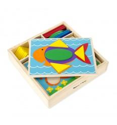 Дървени шаблони за редене в кутия Melissa and Doug