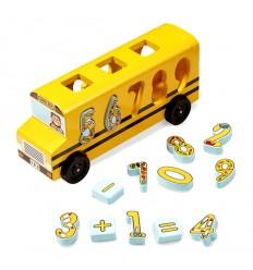 Дървен автобус с цифри за вграждане Melissa and Doug
