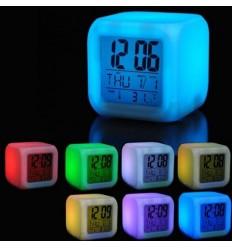Настолен антистрес LED часовник 7 цвята