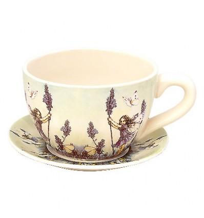 Саксия чаша лавандула