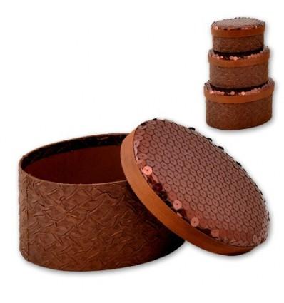 Кутии за бижута Choco - к-т от 3 броя