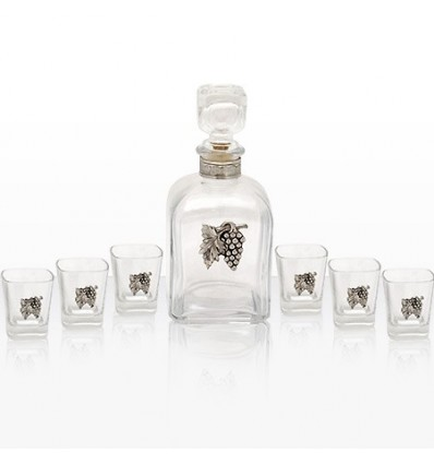 Сет 6 чаши и бутилка