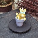Свещ 2 зайчета саксийка
