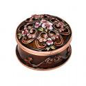 Кутия за бижута кръгла кафява