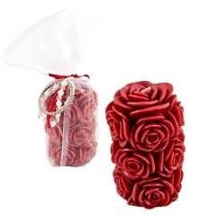 Свещ червена роза