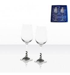 Чаши бяло вино 2 бр.