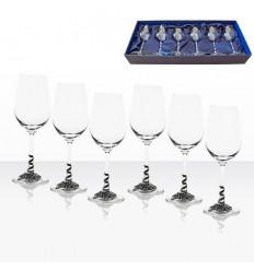 Чаши бяло вино 6 бр.