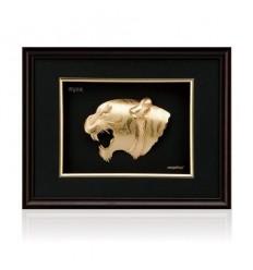 Златна картина тигър