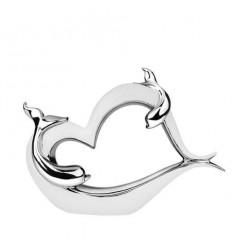 Статуетка сърце с делфин