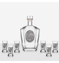 Сет 6 чаши+ бутилка 50 г.