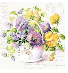 Салфетки  цветя