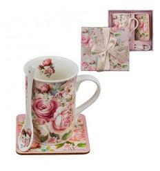Рози 11  сет кафе+лъжичка