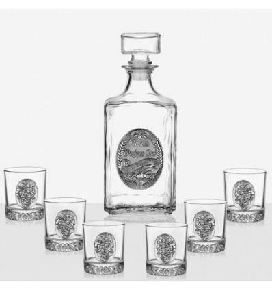 Сет 6 чаши+ бутилка ЧРД грозд
