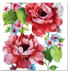 Салфетки рози акварел