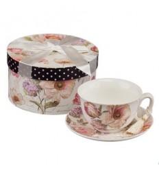 Рози 01 комплект чаша+чинийка